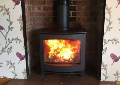Dik Guerts Ivar 8 low Woodburner