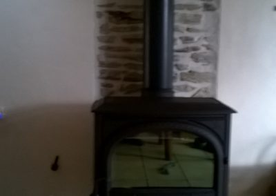Jotul F400 Woodburner with plain door
